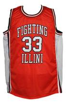 Kenny battle  33 custom fighting illini college basketball jersey orange   1 thumb200