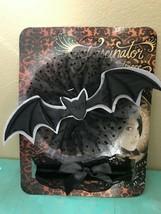 Noir Gothique Tulle Victorien Bat Kit Costume Bibi Coiffe & Col Dentelle - $20.32 CAD