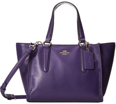 NWT Coach 33537 Violet Smooth Leather Mini Cros... - $179.62