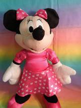"Disney Kcare Kiu Hung Industries Minnie Mouse Pink Dress Plush Doll 13"" image 2"