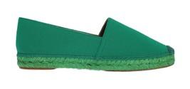 Dolce & Gabbana Women Green Wool Espadrilles Loafers EU39/US8.5 - $203.52