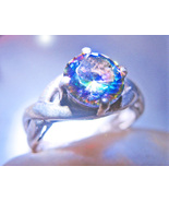 HAUNTED RING OPEN VIOLET GATES PSYCHIC OFFERS ONLY OOAK MAGICK 925 7 SCH... - $88,007.77
