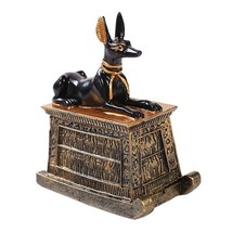 Egyptian Small Anubis Mini Figurine Made of Polyresin - $10.94