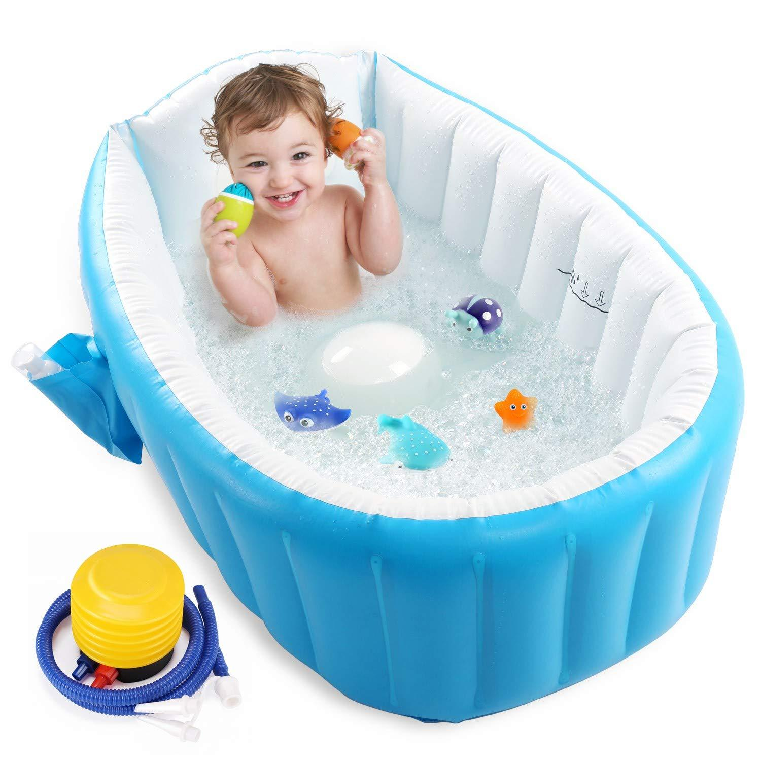 Primary image for Baby Inflatable Bathtub, Portable Infant Toddler Bathing Tub Non Slip Travel Bat
