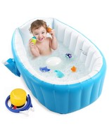 Baby Inflatable Bathtub, Portable Infant Toddler Bathing Tub Non Slip Tr... - $56.99