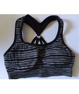 Women's, Teen Juniors Girls Jockey Black and White Stripe Sports Bra Siz... - $7.69