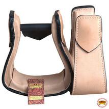 Horse Western Saddle Stirrup Leather Stirrups Pair Hilason U-T115 - $64.30
