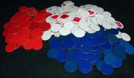 336 VTG Mid Century Coated Paper Cardboard Red White Blue Embossed Poker... - $17.49