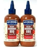 2 Count Hellmann's 9 Oz Creamy Bourbon BBQ Sauce Try With Burger Ribs & ... - $22.99