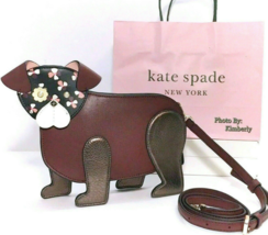 Kate Spade Dog Crossbody Floral Pup Novelty Purse Clutch Bag NWT - $139.99