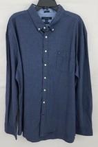 Tommy Hilfiger Men's Dobby Chambray Shirt Blue 3XL Custom Fit - $24.74