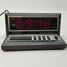Spartus Model 1140 Digital Alarm Clock Red LED Tested - $24.63
