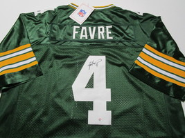 BRETT FAVRE / HALL OF FAME / AUTOGRAPHED GREEN BAY PACKERS THROWBACK JERSEY COA image 1