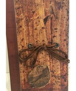 New 3-D leaf, trees and woodpecker motif 110 page journal with rawhide tie - $15.79