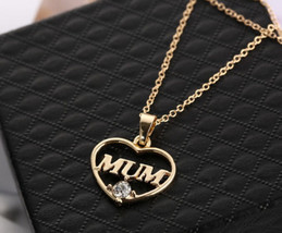 USA New Mother's day Mum Gift Jewelry Gold Plated Charm Pendent Necklace... - $9.89