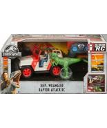 Jurassic World Remote Control Jeep Wrangler Raptor Attack w/Owen & Veloc... - $188.09