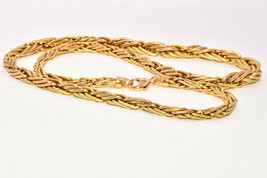Elegant Charles Garnier 18K Yellow and Green Gold Interwoven Chain Necklace - $1,900.00