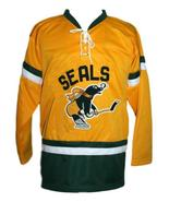 Nick mickoski san francisco seals retro hockey jersey yellow  1 thumbtall