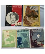 Vintage Sheel Music 1930s Assorted Lot of 5 Songs - $23.24