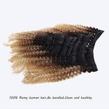 Caliee Afro Kinky Curly Clip in Hair Extension Human Hair Double Weft Unprocesse image 7