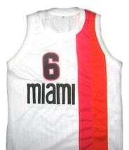 Lebron James #6 Miami Floridians Basketball Custom Jersey Sewn White Any Size image 1