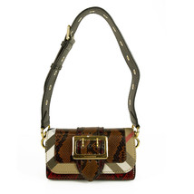 "Burberry Patchwork ""The Clandon"" one of a kind bag python snakeskin & check bag image 1"