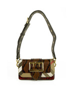"""Burberry Patchwork """"The Clandon"""" one of a kind bag python snakeskin & c... - $1,435.50"""