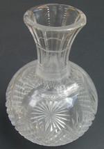 Possible American Brilliant Period ABP Cut Glass Wine Decanter Bottle Ca... - $8.99