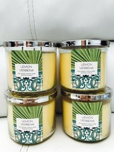4 Bath & Body Works  Lemon Verbena 14.5 OZ 3 Wick Large Candle - $74.25