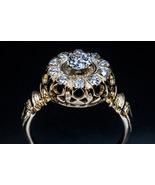 Ornate Antique Victorian Old Mine Cut CZ Diamond Ring art deco engagemen... - £61.07 GBP