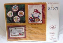 1981 Creative Circle Baby Santa Sack MIP Crewel Kit Christmas Ornament  - $24.26