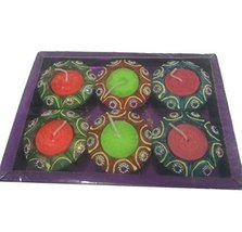 6 x DIY star flatbed Diwali diya OIL LAMP Indian traditional festival oc... - $17.82