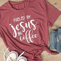 Fueled by Jesus and Coffee Short Sleeve Tee Shirt T Shirt  - $24.99