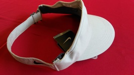 Nike Dri Fit KHAKI Black Swoosh Logo Running Visor NEW - £14.46 GBP