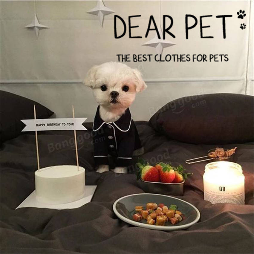 Pet Pajamas Dog Jumpsuits Clothes For Dog Teddy Bomei Small Dog Clothing Dogs Pa