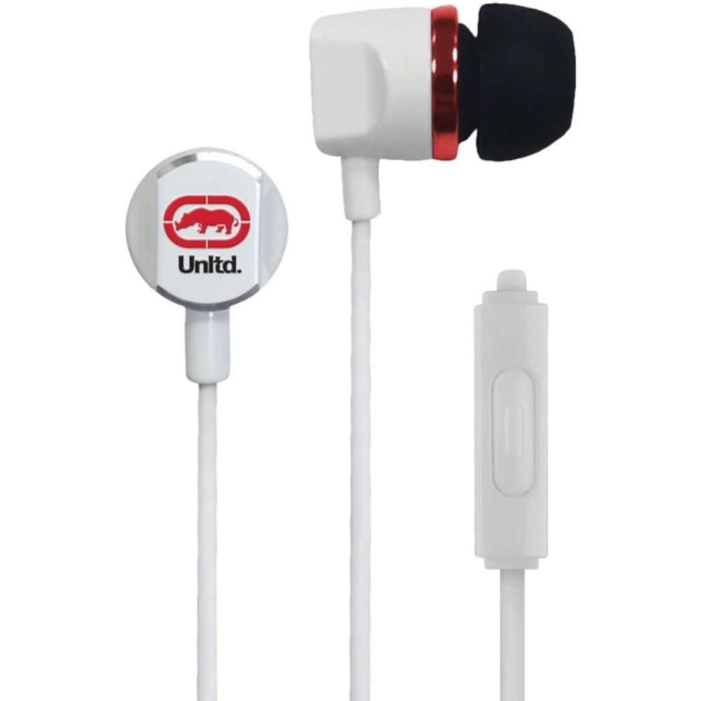 Primary image for Ecko Unltd. EKU-RYC-WHT Royce Earbuds with Microphone (White)