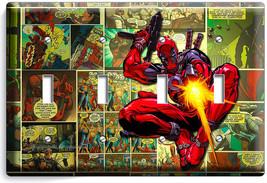 Deadpool Superhero Comics Book Page 4 Gang Light Switch Wall Plate Room Hd Decor - $17.99