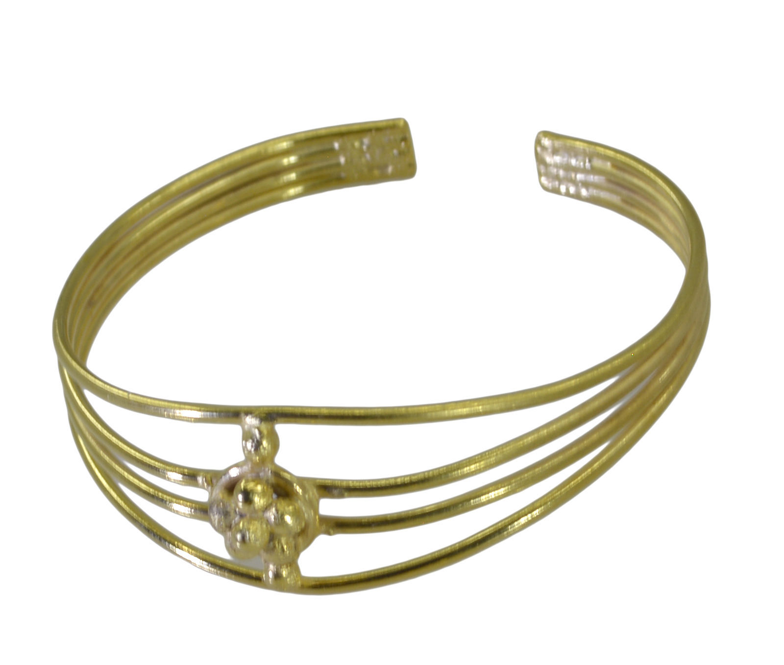 exquisite Plain Gold Plated multi Bangle Fashion jewelry US - $13.16