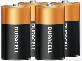 Duracell Coppertop D Alkaline Battery, 4 pack (MN13TB14) - $12.99