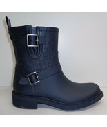 Sam Edelman Size 9 M KEIGAN Navy Rubber Rain Ankle Boots New Womens Shoes - $107.91