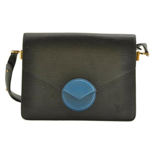 LOUIS VUITTON Epi Free Run Shoulder Bag Black Blue M52415 LV Auth 9735 image 2