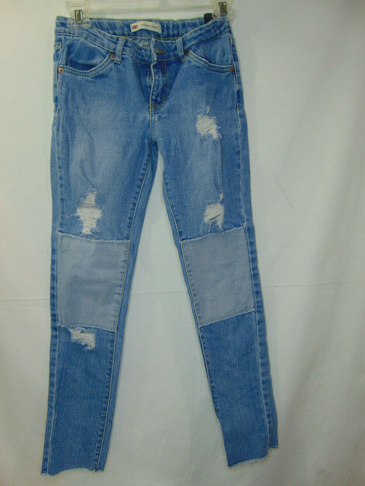 Primary image for Girls Levi's Size 14 Jeans Super Skinny Blue Denim Stretch