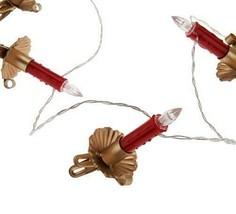 Ellen Degeneres QVC Mini Christmas Candle Light Strand w/Clips (20 Avail... - $19.99