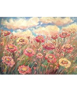 "HUGE KADLIC Abstract Floral Landscape Impasto Original Oil Painting 40""x... - $305.91"