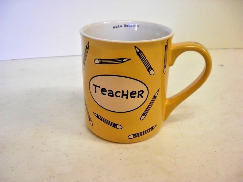 Lorrie Veasey Mug with Teacher Heart With Pencils 4.5""