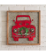 Red Truck Metal Wall Sign - $68.00