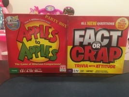 Apples To Apples Board Game + Fact Or Crap Game. Both New - $24.74