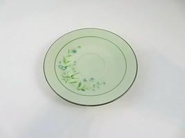 "Noritake Saucer 6"" Cherish Pattern #8222/W80 Platinum Rim 1973-1979 - $12.94"