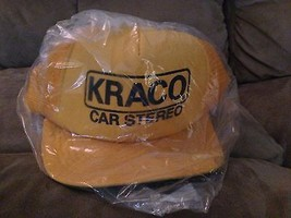 Vintage 1970's KRACO Snap Back Trucker Mesh Hat Gold  car audio stereo ... - $30.69