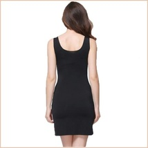Black or Nude V Neck Soft Chiffon Sheath Mini Length Slip For Transparent Gowns image 2
